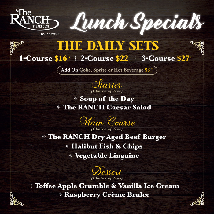 The RANCH Lunch Special - The Daily Sets (Square) 2021
