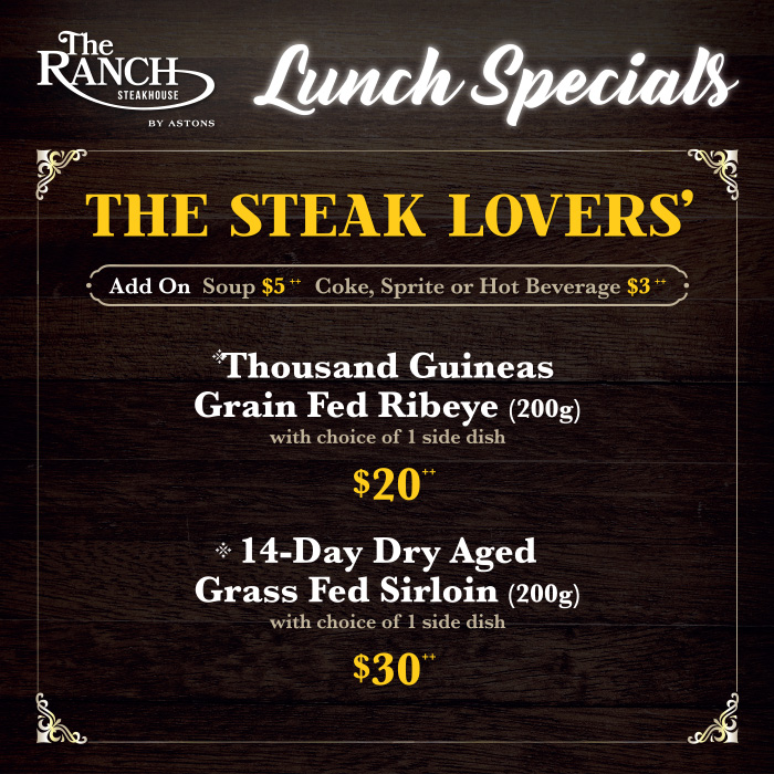 The RANCH Lunch Special - The Steak Lover (Square) 2021